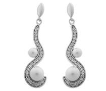 Damen-Ohrhänger 925 Sterling Silber rhodiniert Zirkonia weiß ZO-5166