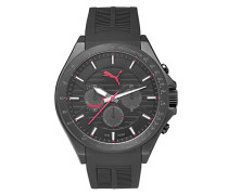 Puma Time Herren-Armbanduhr PU- Forward black red Analog Quarz Kautschuk PU104021001
