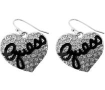 GUESS Damen-Ohrhänger Edelstahl rhodiniert Kristall Zirkonia weiß UBE81101