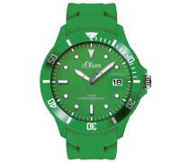 s.Oliver Herren-Armbanduhr XL Analog Quarz Silikon SO-2682-PQ