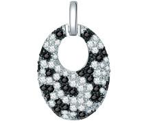 Rafaela Donata Damen-Anhänger Classic Collection Zirkonia weiß / schwarz 925 Sterling Silber 60837035