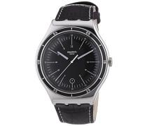 Swatch Herren-Armbanduhr XL Irony Big Classic Trueville Analog Quarz Leder YWS400