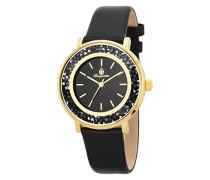 Armbanduhr für Damen mit Analog Anzeige, Quarz-Uhr und Lederarmband - Wasserdichte Damenuhr mit zeitlosem, schickem Design - klassische, elegante Uhr für Frauen - BM537-222 St. Lucia