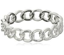Silber gedrehte Glieder Armband, mit Verbindung