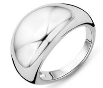 Damen 925 Sterling Silber Hochzeitsring mit Zirkonia