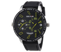 Herren-Armbanduhr XL 400 Analog Quarz Leder R3251119007