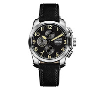 Men's The Manning Automatic Watch withSchwarz Dial andSchwarz Leather Strap I03101