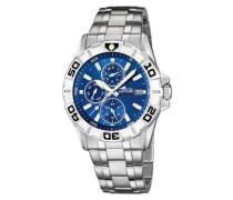 Herren-Armbanduhr Analog edelstahl silber 15812/2