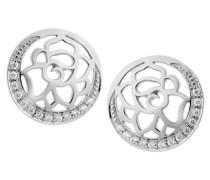 Damen-Ohrstecker 925 Silber rhodiniert Zirkonia weiß Rundschliff - ZO-7089
