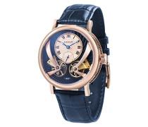 Beaufort Anatolia ES-8059-05 mechanische Herren-Armbanduhr mit Automatikgetriebe, blaues Zifferblatt mit klassischer Analoganzeige, blaues Lederarmband