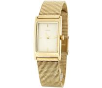 M&M Damen-Armbanduhr Analog Quarz Edelstahl M11603-232
