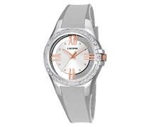 Damen Quarzuhr mit Silber Zifferblatt Analog-Anzeige und Silber Kunststoff Gurt k5680/1