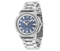 Tramp Herren Armbanduhr mit Blau Zifferblatt Analog-Anzeige und Silber Edelstahl Armband 14797js/08M