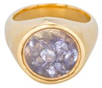 Unisex -  925 Sterling-Silber  Silber Rundschliff   lila Tanzanite