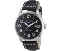 Herren-Armbanduhr XL Retro Tre Analog Automatik Leder 6569-a1