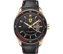 Ferrari Herren-Armbanduhr XL GRAN PREMIO Analog Quarz Leder 830185