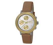 ! Damen-Armbanduhr Golden Leather Analog Quarz Leder JP101852002