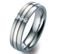 -Ehe, Verlobungs & Partnerringe Diamant Ringgröße 55 (17.5) - ORB51715/55
