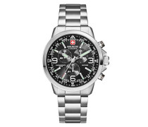 Swiss Military Herren-Armbanduhr Laser Chrono Analog Quarz SM34208AEU/H04MS