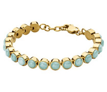 Damen-Armband ICONS ARMINE SG Edelstahl teilvergoldet Amazonit grün Rundschliff 21 cm - 343737