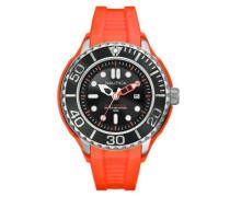 Herren-Armbanduhr XL Analog Quarz Silikon A26538G