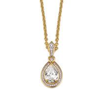 Damen Halskette 925 Sterling Silber rhodiniert Glas Zirkonia L'Esthétisme Unique 42 cm weiß S.PCNL90453B420