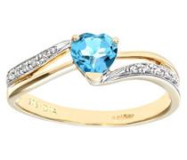Damen-Ring 375 Gelbgold 9 K Diamant 0,04 ct PR07447Y BT-K