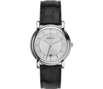 Herren-Armbanduhr Analog Leder schwarz 12243/11