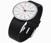 Unisex-Armbanduhr Analog Edelstahl weiss 43440