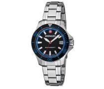Damen-Armbanduhr Seaforce Analog Quarz Edelstahl 01.0621.104