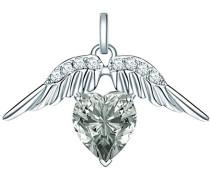 Glossy Collection Damen-Anhänger Flügel mit original Swarovski Elements Black Diamond (ohne Kette)  60836049