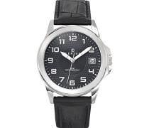 Herren-Armbanduhr Analog Quarz Schwarz 610728