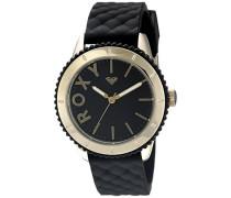 Roxy Damen-Armbanduhr The Del Mar Analog Silikon Schwarz RX/1013BKRG