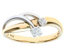 Damen-Ring 9 Karat 375 Gelbgold 31 Diamant