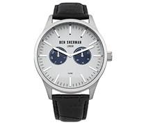 BEN SHERMAN Herren-Armbanduhr Spitalfields Social Analog Quarz Leder WB024S