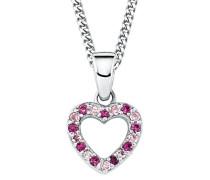 Kinder-Halskette mit Anhänger Herz Mädchen 925 Silber Sterling längenverstellbar