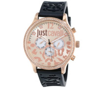 Just Cavalli Damen-Armbanduhr HUGE Analog Quarz Kautschuk R7251127511