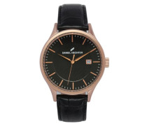 Herren-Armbanduhr Analog Quarz Leder DHH 003-2AA