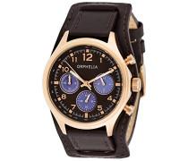 Damen-Armbanduhr Chronograph Quarz Leder