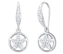 Ohrringe Blume Ornament Marquise Zirkonia 925 Silber 0312931416