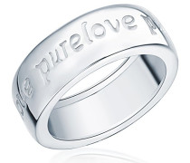 Damen-Ring Classic Collection 925 Sterling Silber Gravur Pure Love