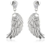Damen-Ohrhänger 925 Sterling Silber rhodiniert Flügel klein ERE-W2