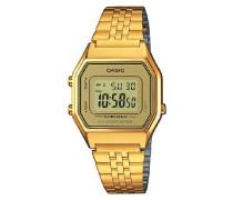 Collection – Damen-Armbanduhr mit Digital-Display und Edelstahlarmband – LA680WEGA-9ER