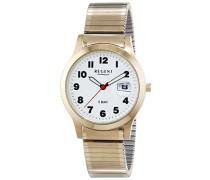 Herren-Armbanduhr XL Analog Quarz Edelstahl beschichtet 11300026