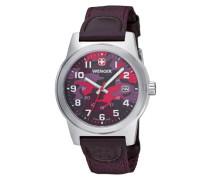 Herren-Armbanduhr camo Analog nylon violett 010441110