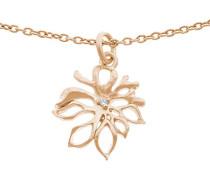 Damen Halskette Silber vergoldet Zirkonia weiß ZH-6027/1