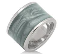 Joy Damen-Ring 925 Sterlingsilber rhodiniert Emaille Grau JA105RM