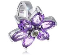 Bead/Charm 925SI Big Amethyst Flower