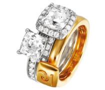 Damen-Ring Melanger Et Assortir 925 Sterling Silber