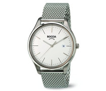Boccia Herren-Armbanduhr Analog Quarz Edelstahl 3587-03